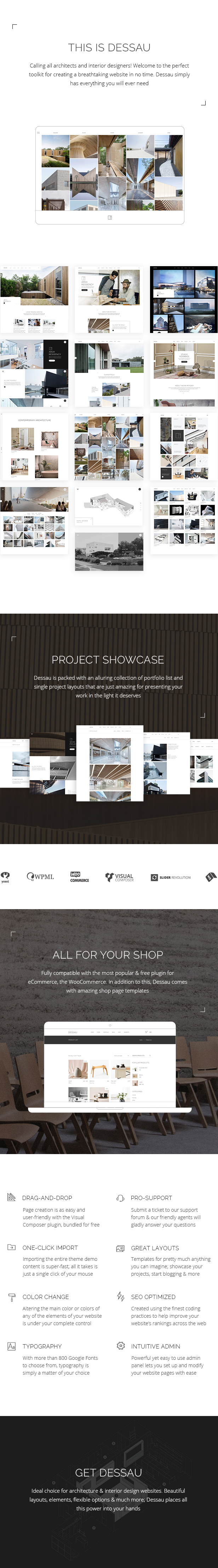WordPress theme Dessau - A Contemporary Theme for Architects and Interior Designers (Portfolio)