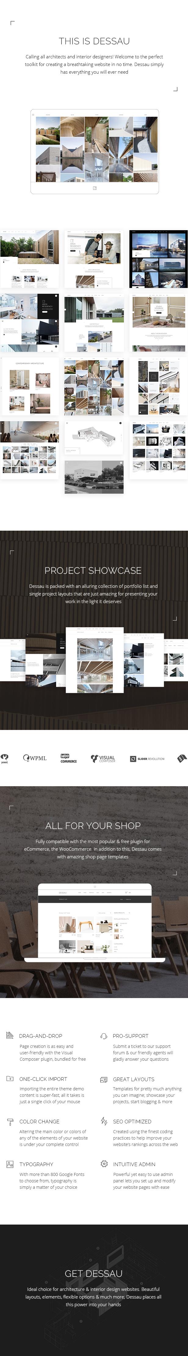 WordPress theme Dessau - A Contemporary Theme for Architects and Interior Designers (Portfolio)